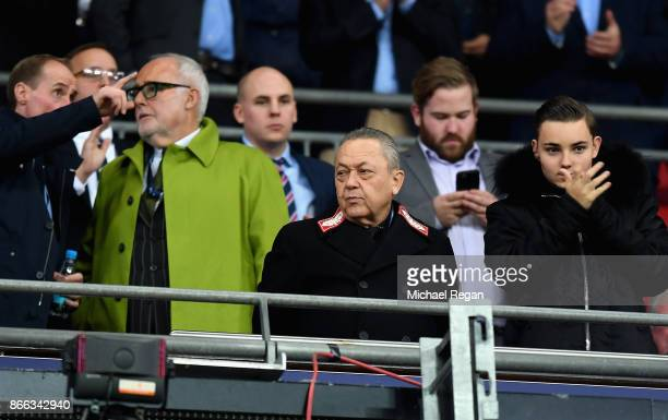 West Ham United owner David Sullivan looks on during the Carabao Cup Fourth Round match between Tottenham Hotspur and West Ham United at Wembley...