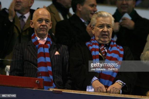 West Ham United owner Eggert Magnusson and Honorary Life President Bjorgolfur Gudmundsson