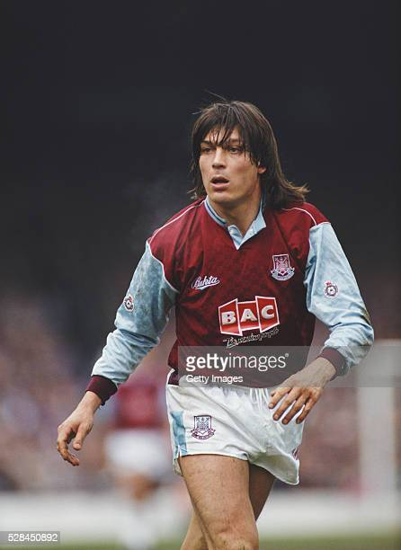 West Ham United striker Trevor Morley in action during a Second Division match between West Ham United and Swindon Town at Upton Park in April 1991...
