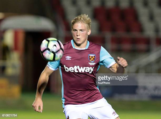 West Ham United U23s Alex Pike during Premier League 2 match between West Ham United Under 23s against Brighton and Hove Albion Under 23s at Chigwell...
