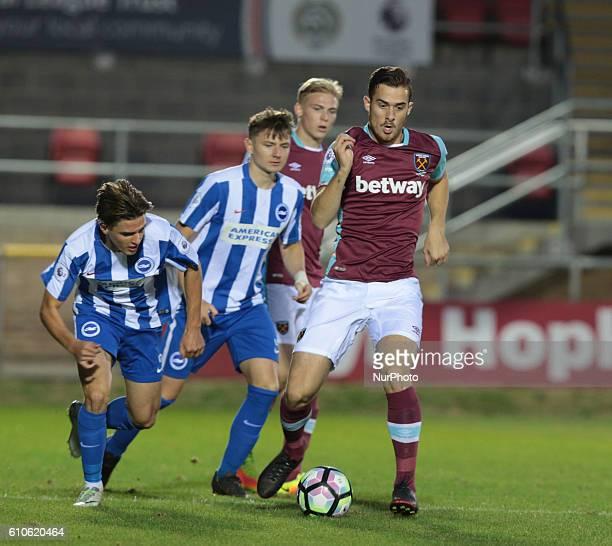 West Ham United U23s Antonio Martinez during Premier League 2 match between West Ham United Under 23s against Brighton and Hove Albion Under 23s at...
