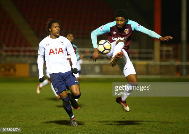 West Ham United U23s Ben Johnson during Premier League 2 Division 1 match between West Ham United Under 23s and Tottenham Hotspur Under 23s at...