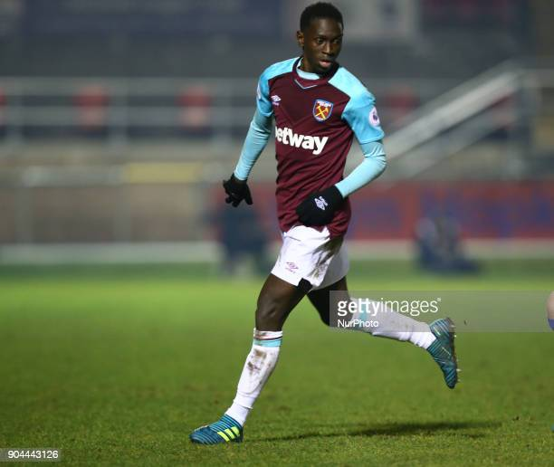 West Ham United U23s Domingos Quina during Premier League 2 Division 1 match between West Ham United Under 23s and Leicester City Under 23s at...