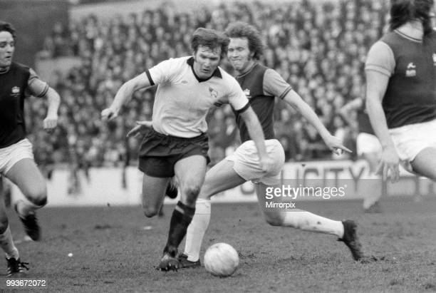 West Ham United v Derby County League Division One Upton Park Final score 21 to Derby County Leighton James of Derby County 21st February 1976