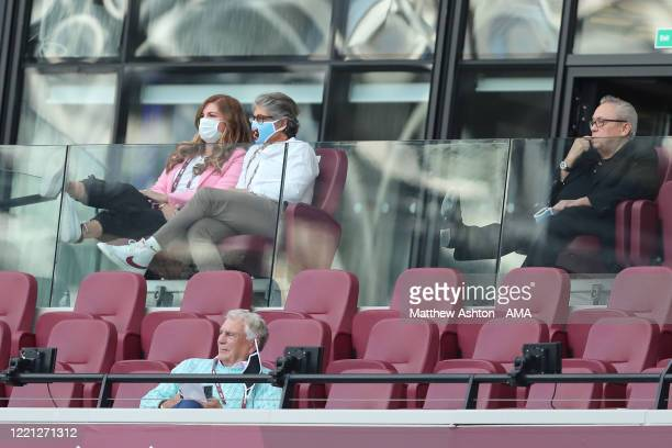 West Ham United Vice Chairman Karren Brady watches on during the Premier League match between West Ham United and Wolverhampton Wanderers at London...