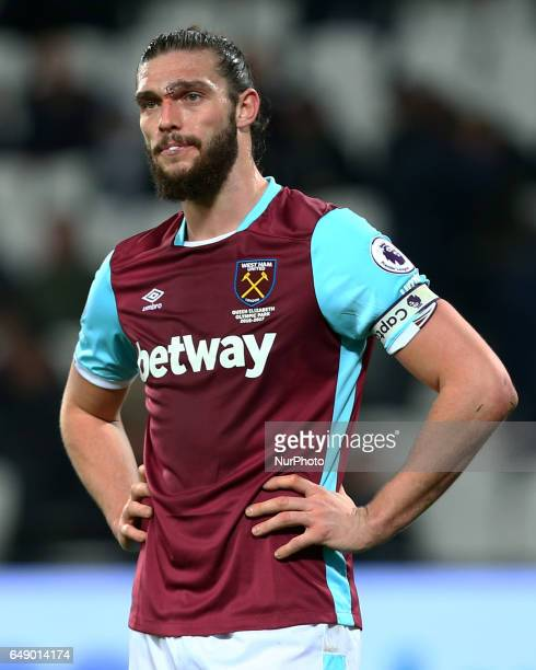 West Ham United's Andy Carroll during EPL Premier League match between West Ham United against Chelsea at The London Stadium Queen Elizabeth II...