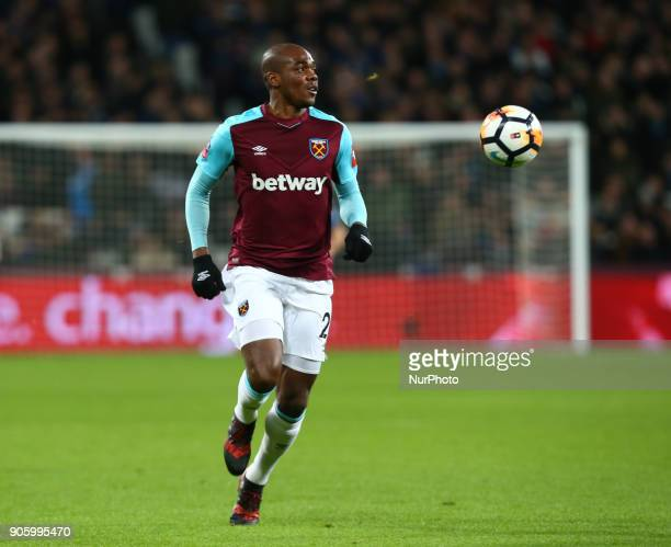 West Ham United's Angelo Ogbonna during FA Cup 3rd Round reply match between West Ham United against Shrewsbury Town at The London Stadium Queen...