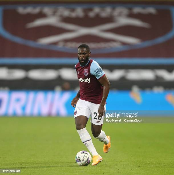 West Ham United's Arthur Masuaku during the Carabao Cup Second Round Northern Section match between West Ham United and Charlton Athletic at London...