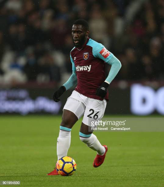 West Ham United's Arthur Masuaku during the Premier League match between West Ham United and West Bromwich Albion at London Stadium on January 2 2018...