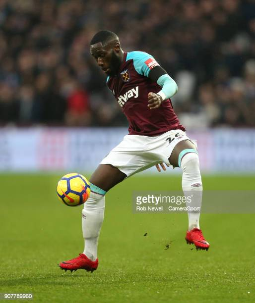 West Ham United's Arthur Masuaku during the Premier League match between West Ham United and AFC Bournemouth at London Stadium on January 20 2018 in...