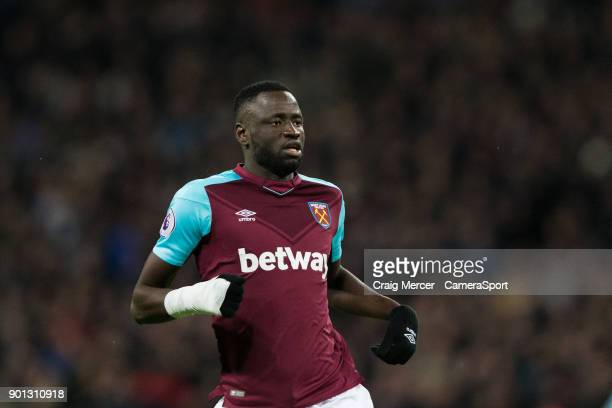 West Ham United's Cheikhou Kouyate during the Premier League match between Tottenham Hotspur and West Ham United at Wembley Stadium on January 4 2018...