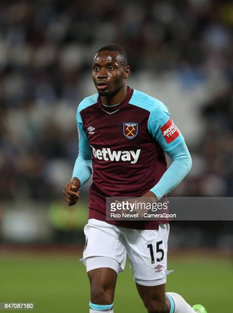 West Ham United's Diafra Sakho during the Premier League match between West Ham United and Huddersfield Town at London Stadium on September 11 2017...