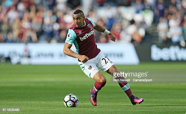 West Ham United's Dimitri Payet during the Premier League match between West Ham United and Middlesbrough at Olympic Stadium on October 1 2016 in...