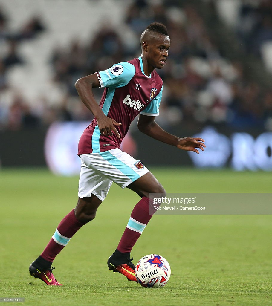 West Ham United's Edimilson Fernandes during the EFL Cup Third Round match between West Ham United and Accrington Stanley at London Stadium on September 21, 2016 in Stratford, England.