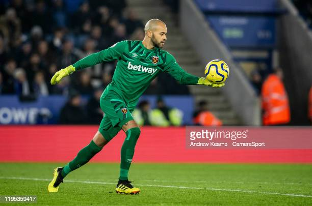West Ham United's goalkeeper Darren Randolph during the Premier League match between Leicester City and West Ham United at The King Power Stadium on...