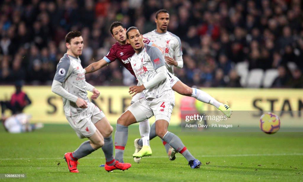 West Ham United v Liverpool - Premier League - London Stadium : News Photo
