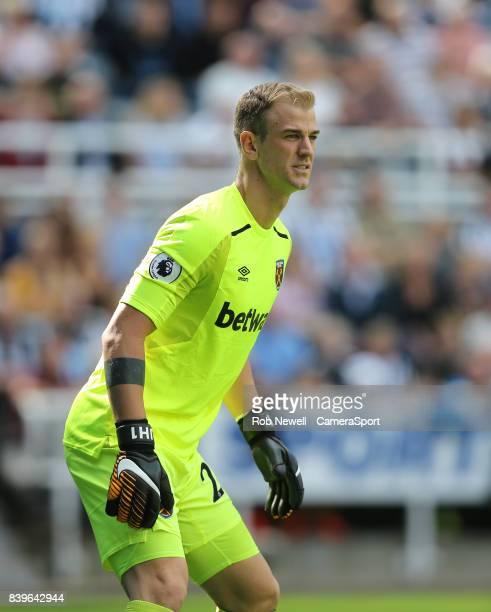West Ham United's Joe Hart during the Premier League match between Newcastle United and West Ham United at St James Park on August 26 2017 in...