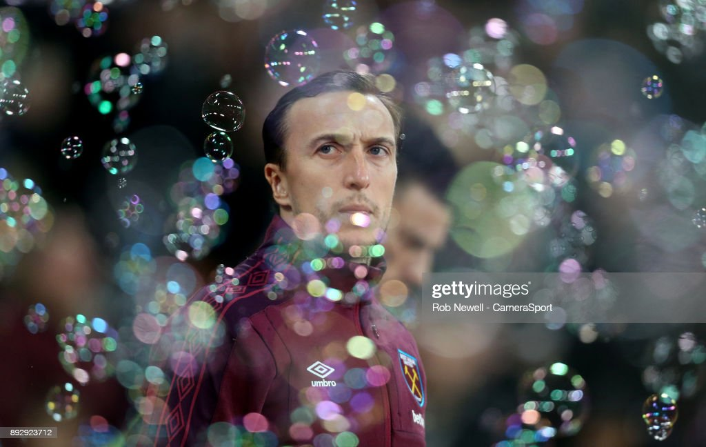 West Ham United's Mark Noble during the Premier League match between West Ham United and Arsenal at London Stadium on December 13, 2017 in London, England.