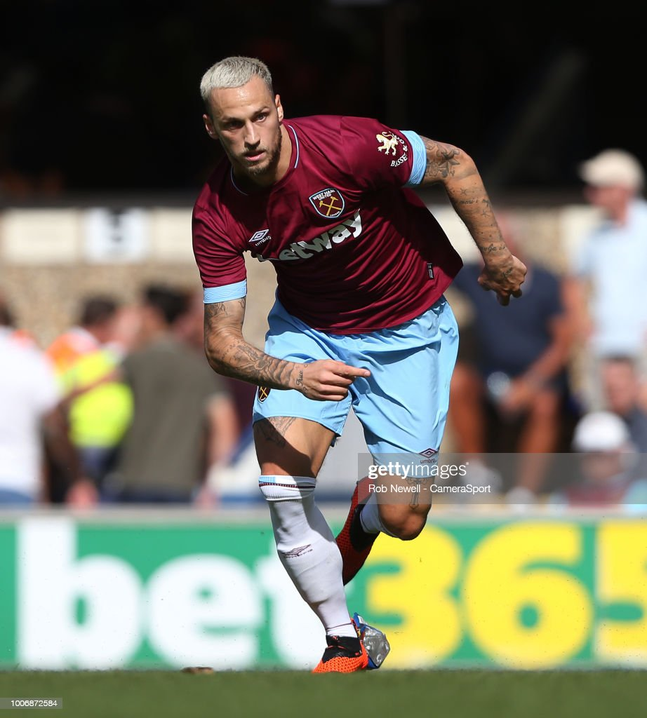 West Ham United's Marko Arnautovic during the match between Ipswich Town and West Ham United at Portman Road on July 28, 2018 in Ipswich, England.