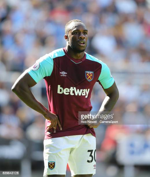 West Ham United's Michail Antonio during the Premier League match between Newcastle United and West Ham United at St James Park on August 26 2017 in...