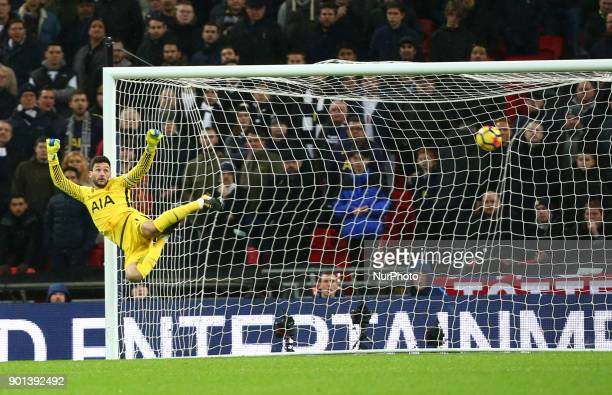 West Ham United's Pedro Mba Obiang scores his sides first goal during Premier League match between Tottenham Hotspur against West Ham United at...
