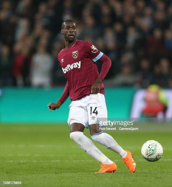 West Ham United's Pedro Obiang during the Carabao Cup Fourth Round match between West Ham United and Tottenham Hotspur at London Stadium on October...