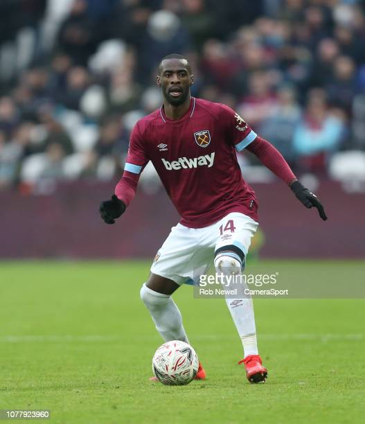 West Ham United's Pedro Obiang during the FA Cup Third Round match between West Ham United and Birmingham City at The London Stadium on January 5,...