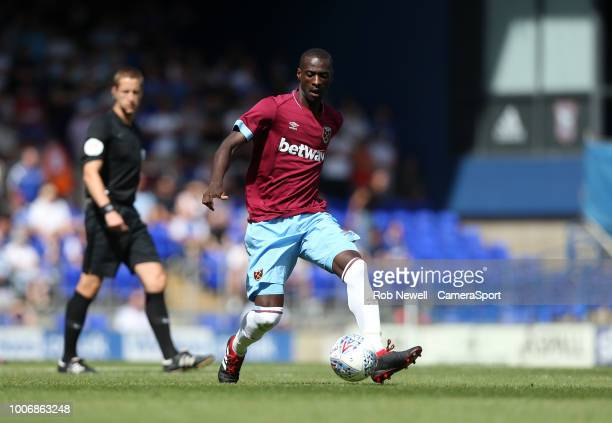 West Ham United's Pedro Obiang during the match between Ipswich Town and West Ham United at Portman Road on July 28 2018 in Ipswich England