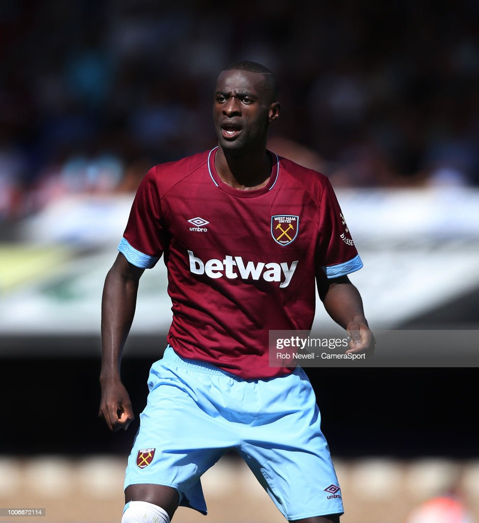 West Ham United's Pedro Obiang during the match between Ipswich Town and West Ham United at Portman Road on July 28, 2018 in Ipswich, England.