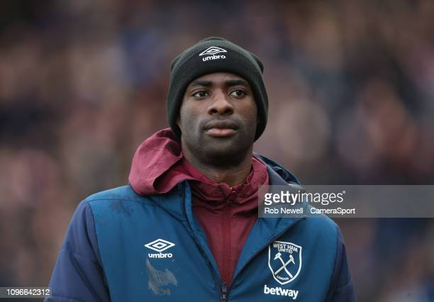 West Ham United's Pedro Obiang during the Premier League match between Crystal Palace and West Ham United at Selhurst Park on February 9, 2019 in...