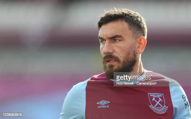 West Ham United's Robert Snodgrass during the Betway Cup match between West Ham United and Bournemouth at London Stadium on September 5 2020 in...