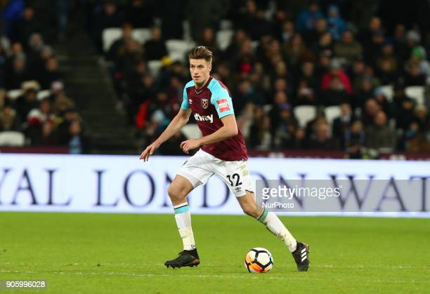 West Ham United's Sam Byram during FA Cup 3rd Round reply match between West Ham United against Shrewsbury Town at The London Stadium Queen Elizabeth...