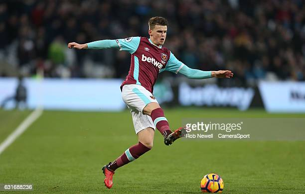 West Ham United's Sam Byram during the Premier League match between West Ham United and Crystal Palace at London Stadium on January 14 2017 in...