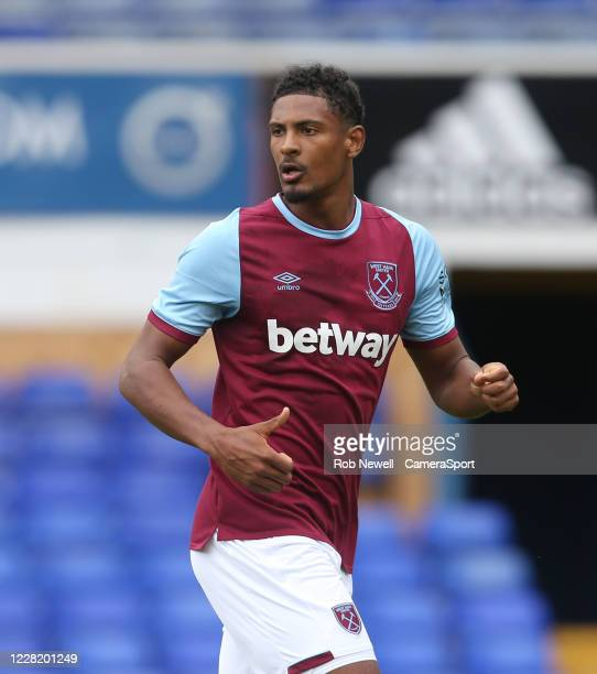 West Ham United's Sebastien Haller during the Pre-Season Friendly match between Ipswich Town and West Ham United at Portman Road on August 25, 2020...