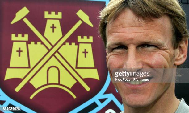 West Ham United's Teddy Sheringham during a press conference at the Chadwell Heath Training Ground London