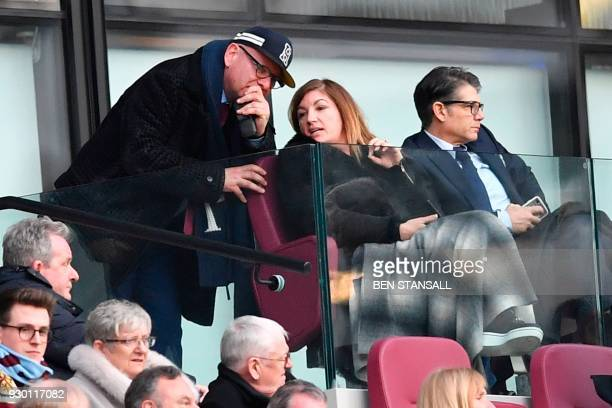 West Ham United's Vice-Chairman Karren Brady is seen in the crowd during the English Premier League football match between West Ham United and...