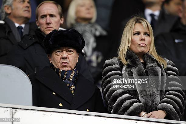 West Ham United's Welsh Chairman David Sullivan is pictured ahead of the English Premier League football match between Tottenham Hotspur and West Ham...