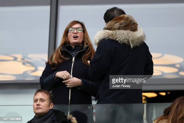 West Ham vice-chairman Karren Brady looks on prior to the FA Cup Third Round match between West Ham United and Birmingham City at The London Stadium...