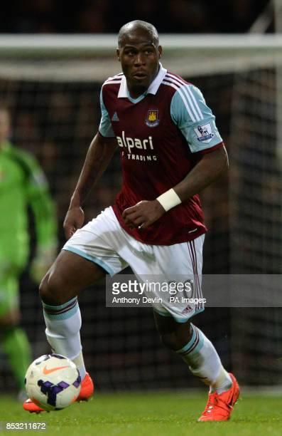 West Ham's Guy Demel during the Barclays Premier League match at Upton Park London