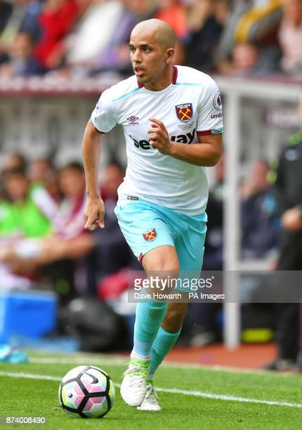 West Ham's Sofiane Feghouli during the Premier League match at Turf Moor Burnley