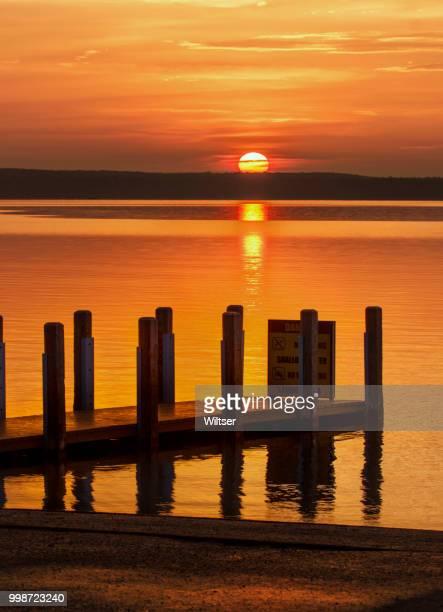 DNR West Higgins Lake Boat Launch Sunrise