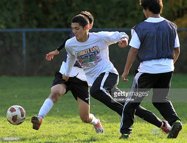 West high school soccer feature on Marlborough High boys which features one of the most diverse rosters in the region Marcelo Cunha center during...