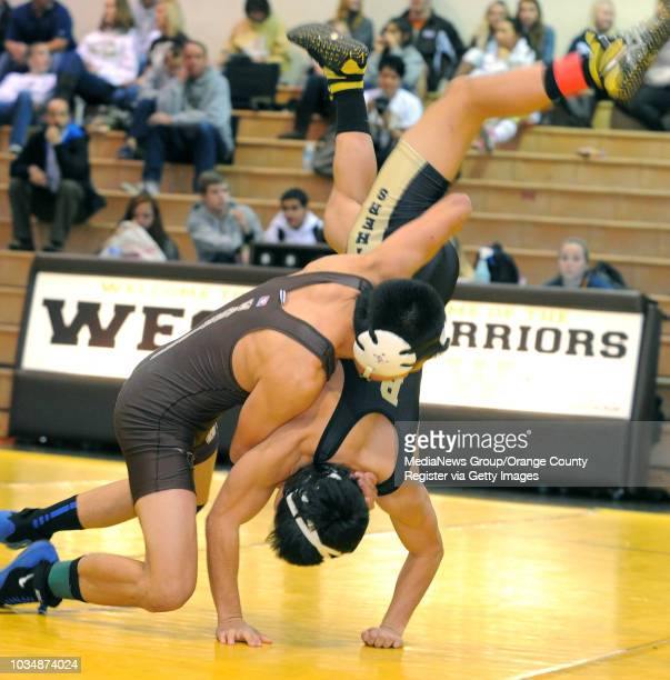 Scott Varley/LANG West High wrestlers defeated Peninsula 5918 in a three team meet where both schools defeated Compton Centennial 126pound match...