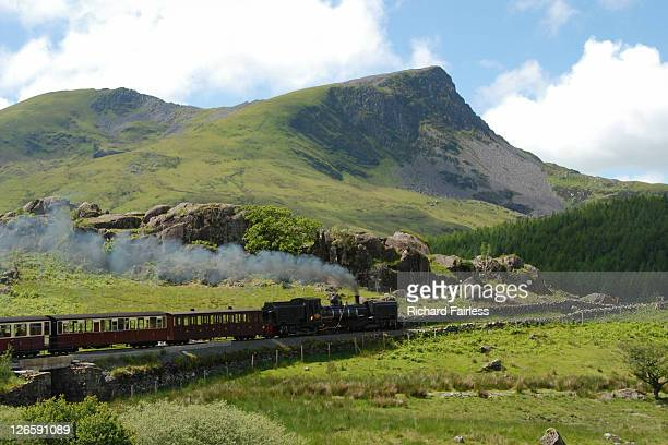 west highland railway - snowdonia stock photos and pictures