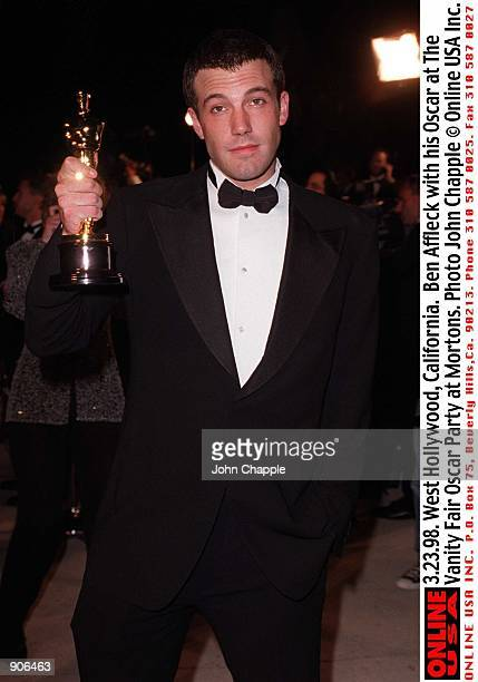 West Hollywood, CA. Ben Affleck with his Oscar at the Vanity Fair post-Oscar Party at Mortons. Photo by John Chapple Online USA, Inc.