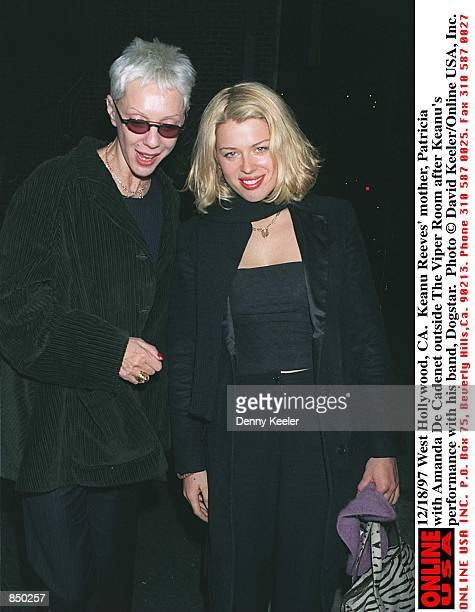 West Hollywood, CA. Keanu Reeves'' mother, Patricia with Amanda De Cadenet outside The Viper Room after Keanu's performance with his band, Dogstar.