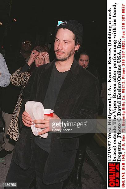 West Hollywood, CA. Keanu Reeves outside The Viper Room after performing with his band, Dogstar.