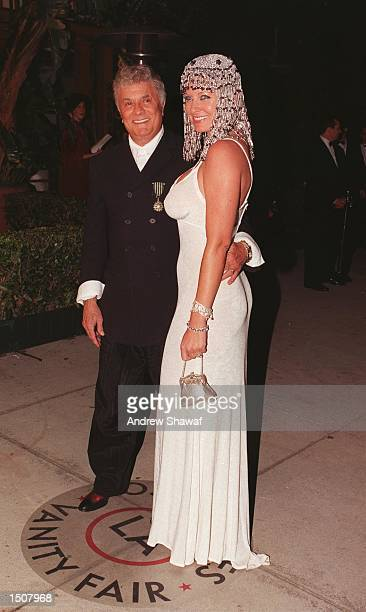 West Hollywood CA Tony Curtis with his wife Jill Vanden Berg at the Vanity Fair Party at Mortons restaurant