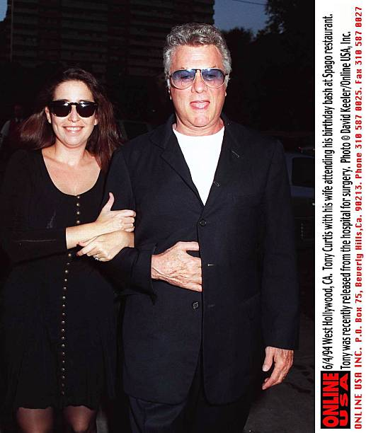 6/2/94 West Hollywood, CA. Tony Curtis with his wife, Lisa ...