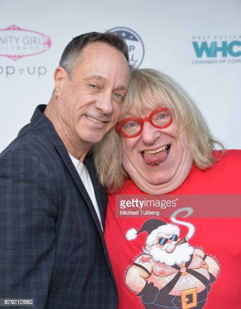 West Hollywood Chamber of Commerce COB Keith Kaplan and actor Bruce Vilanch attend a Small Business Saturday 'Stars Shop Small for WeHo' event at B2V...